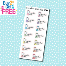 F118 - Smoothie Time Icon Planner Stickers for Erin CondrenHappy Planner