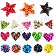 Fine Lots Of Round Mixed Wood Spacer loose beads charms 3.5 5 7 8 10 12 14 16 mm