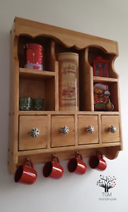 s94 Traditional Kitchen's Cabinet   Wall mounted Shelving Unit   Cottage Cabinet