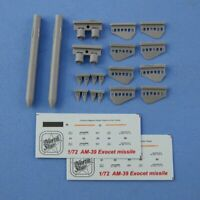 1/72  AM-39 Exocet anti-ship missile 2 pcs in a set NorthStarModels