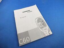 Original Siemens C60 Mobile Buch Book Bedienungsanleitung Deutsch Anleitung