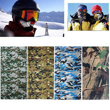Camo Tube Scarf Headband Face Mask Warmer Bandana MultiFunction Headwear&