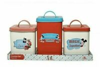 2020 Disney Parks Mickey & Minnie Mouse Retro Kitchen Canister Set Cookie Jar