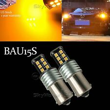 15-SMD Amber 7507 LED Bulbs For BMW 1 2 3 4 Series X3 X5 Turn Signal Lights