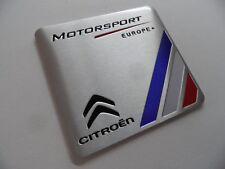 CITROËN Motorsport LOGO 3d metallo alluminio adesivo sticker CITROEN Emblema NUOVO