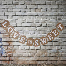 LOVE IS SWEET Bunting Banner Garland Wedding Ceremony Room Decor Photo Prop Love
