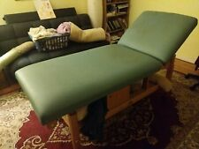 Oakworks Clinician Adjustable Stationary Massage Table Good Condition solid wood
