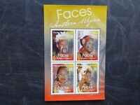PAPUA NEW GUINEA 2017 FACES OF SOUTHERN PNG 4 STAMP MINI SHEET MNH