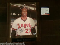 Frank Robinson Signed/Autographed Picture Photo w COA PSA DNA California Angels