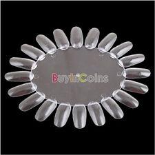 1 X Nuancier Nail Art Roue Presentoir Vernis Transparent Ongles Ovale