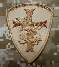 NAVY SEAL TEAM 6 DEVGRU LION CROSS CRUSADER DESERT VELCRO® BRAND FASTENER PATCH