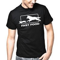 Fast Food Fastfood Hund Katze Sprüche Geschenk Spaß Fun Comedy Spruch T-Shirt
