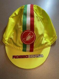 MENS CASTELLI ITALY ITALIA CYCLING ROSSO CORSA VELO BIKE CAP GREEN SIZE ONE SIZE