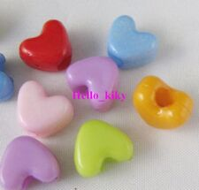 150pcs Mixed colour Plastic Heart beads 10x12mm M1392