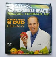 NEW!  3 Steps To Incredible Health With Joel Fuhrman, M.D. (6 DVD Set) SEALED!