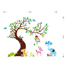 Jungle Animals Tree Monkey Owl Removable Wall Decal Stickers Kids Room Decor USA