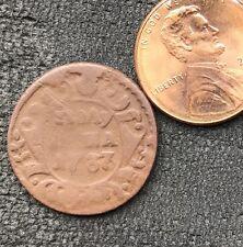 1737 POLUSHKA OLD RUSSIAN IMPERIAL COIN ORIGINAL