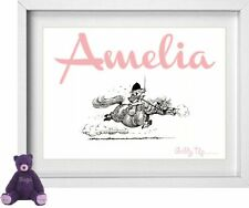 BABY GIRL NAME | Personalised Picture | Thelwell Horse Riding |FREE POST|(NP146)