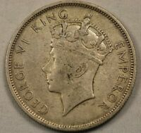 1937 Southern Rhodesia Half Crown Sterling Silver Coin Very Nice!