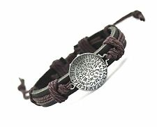 New Fashion Rope Bracelet For Women Men Cuff Charm Genuine Leather GREY COLOR