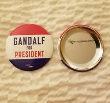 NYCC 2018 exclusive GANDALF FOR PRESIDENT button Lord of the Rings LOTR Hobbit