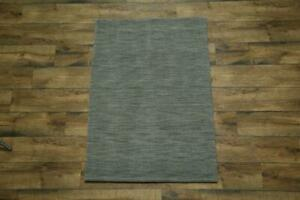 Light Blue Contemporary Hand Knotted Gabbeh Oriental Modern Area Rug Wool 3'x5'
