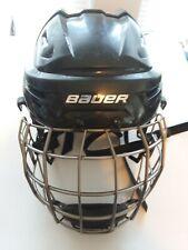 Bauer REAKT Used Ice Hockey Helmet Black Size Medium with Oval Titanium Cage