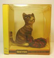 Rare Vtg 1994 BREYER Leonardo Grey Tiger Kitten #338 Breyer Animal Original Box
