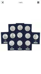 Queens Beasts Full Set 11 x BU £5 Coins Black Bull, Red Dragon, Falcon, Yale etc