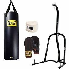 Everlast 100 Lb Heavy Bag Kit With Single Station Stand Boxing MMA Value Bundle