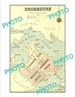 OLD LARGE HISTORIC PRINT OF SYDNEY NSW COUNCIL BOUNDRIES MAP DRUMMOYNE c1900