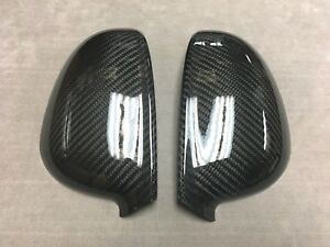 DRY CARBON FIBER SIDE MIRROR COVER OVERLAYS FOR 06-09 V W GOLF GTI RABBIT 5 MK5