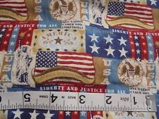 """42""""Wx87""""L Fabric America Stands United Eagle Us Patriot Liberty Justice Stars"""