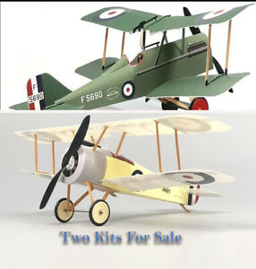 2 Radio Control Model Biplane Kits - Sopwith Pup RAF & SE5A NEW Indoor/Park Fly