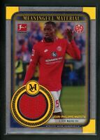 2020 JEAN PHILIPPE MATETA 18/50 JERSEY TOPPS  MEANINGFUL MATERIAL (read)