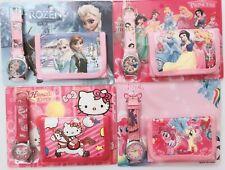 Girl Kid Children Frozen Hello Kitty Wrist Watch Wallet Purse Birthday gift her