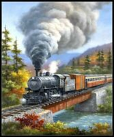 Chart Needlework Crafts DIY - Counted Cross Stitch Patterns - Train Crossing