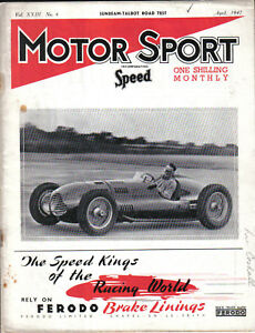 Motor Sport 04/47 Racing Austin 7 Talbot 10 Sports Wolseley Special Ophelia