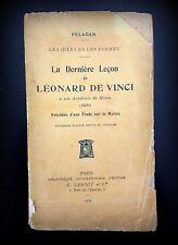La Derniere Lecon de Leonard De Vinci - A Son Academie De Milan, 1909