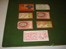 (7) VINTAGE 1930's FOOTBALL TICKET STUBS, YALE BOWL, ARMY/NAVY GAME ETC.