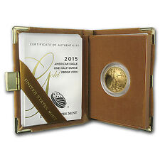 2015-W 1/2 oz Proof Gold American Eagle (w/Box & COA) - SKU #88357