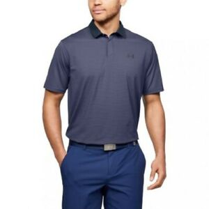 Under Armour Mens T-Shirt GOLF Men's UA Iso-Chill Gradient Polo Navy Size L