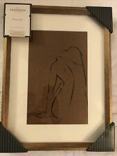 "Studio McGee Threshold 12"" X 16"" Nude Woman Figural Sketch Framed Art Target"