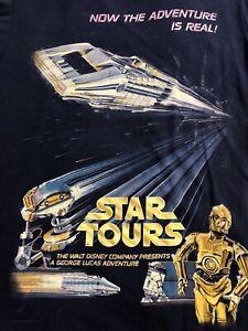 Disney Parks Star Tours Poster Tshirt Unisex Medium Used
