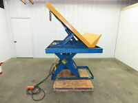 "Vestil Hydraulic Scissor Lift and Tilt Table 4000lb  48""x60"" 40° 36"" Travel 3PH"