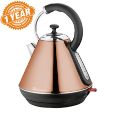 Automatic Cordless Eletric Kettle 1.8L Copper Stainless steel Fast Boil 2200w