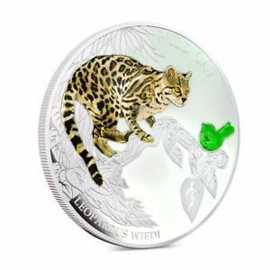 "Fiji 2013 2$ Dogs & Cats Wild Cat ""Leopardus"" 1 Oz Silver Coin"