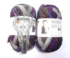 2 Wool Balls Frilly of Schachenmayr - Grey Violet Black