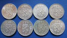 Niederlande Lot 8 x 1 Gulden Silber in vorwiegend vz  (3456)