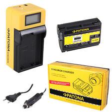 Batteria Patona + caricabatteria Synchron LCD USB per Nikon MB-D11,MB-D12,MB-D14